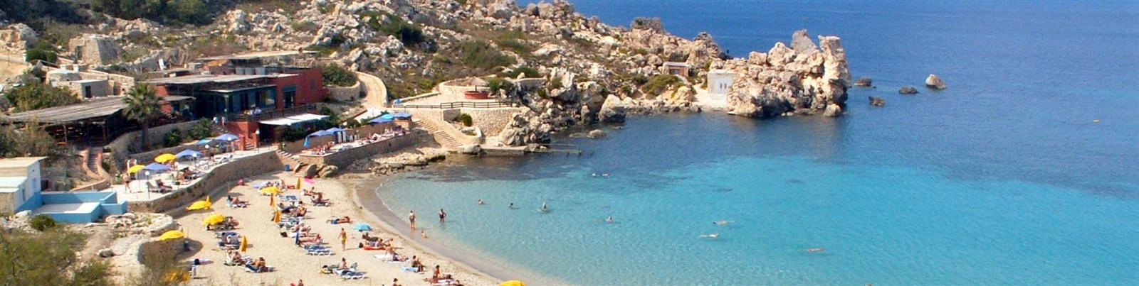 Rocky bays in Malta