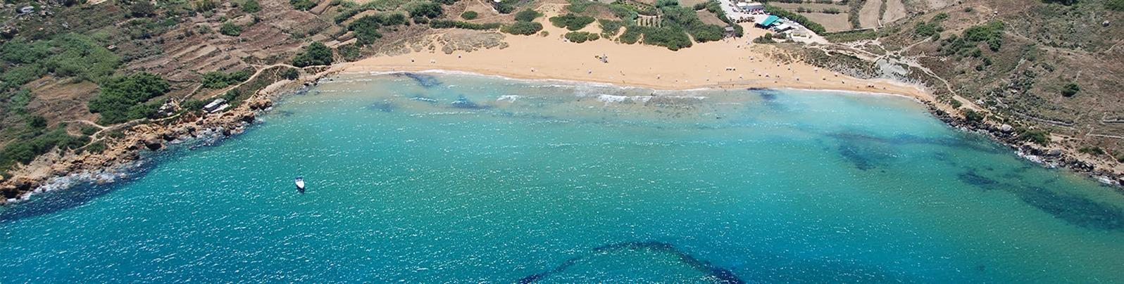 secluded beach in gozo