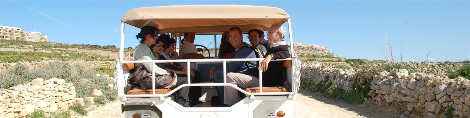 Adventurous Jeep tour across the island